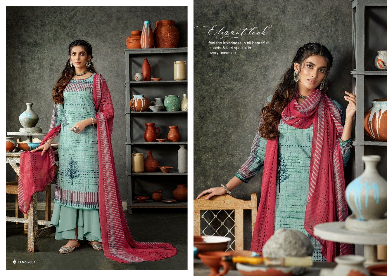 Radhika Azara Monsoon Collection Designer Prints Cotton Daily Wear Suits In Best Wholesale Rate
