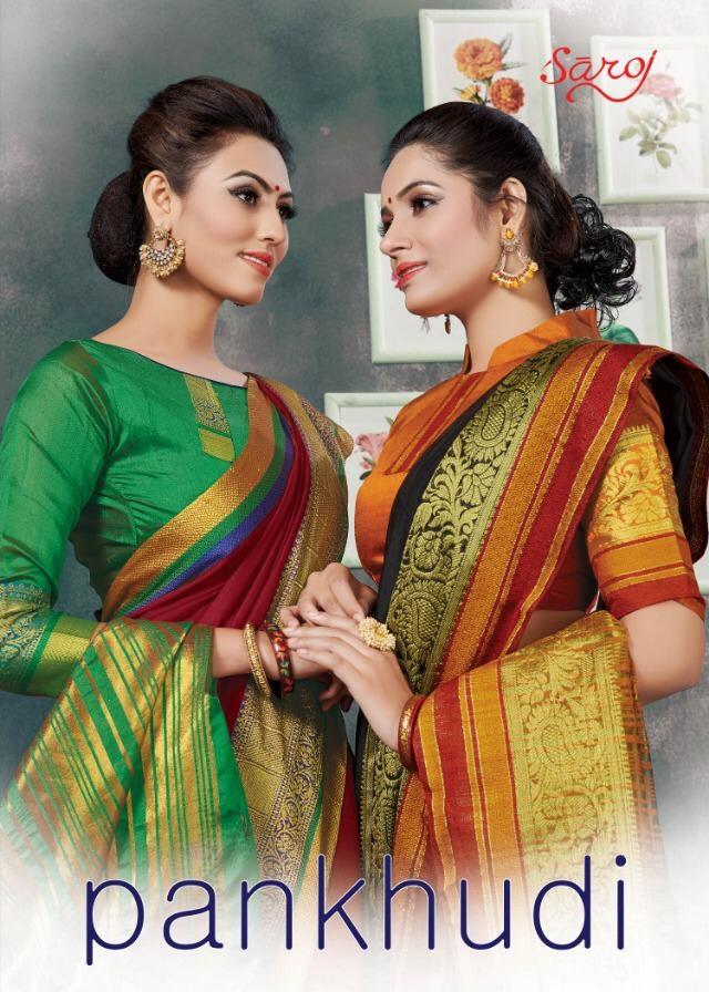Saroj Saree Pankhudi Designer Cotton Jacquard Festival Wear Sarees In Best Wholesale Rate