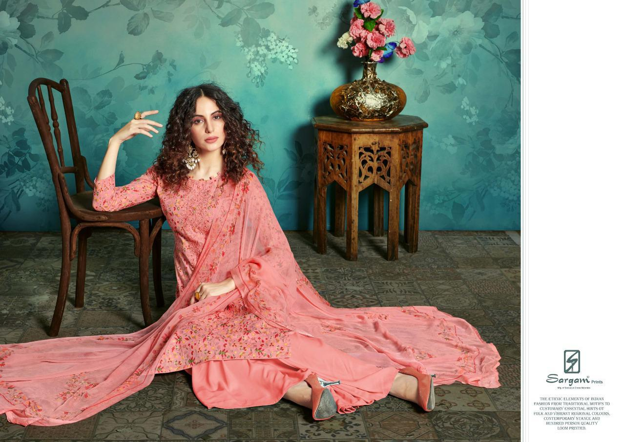 Sargam Prints Mayra Designer Work With Cambric Cotton Printed Suits In Best Wholesale Rate