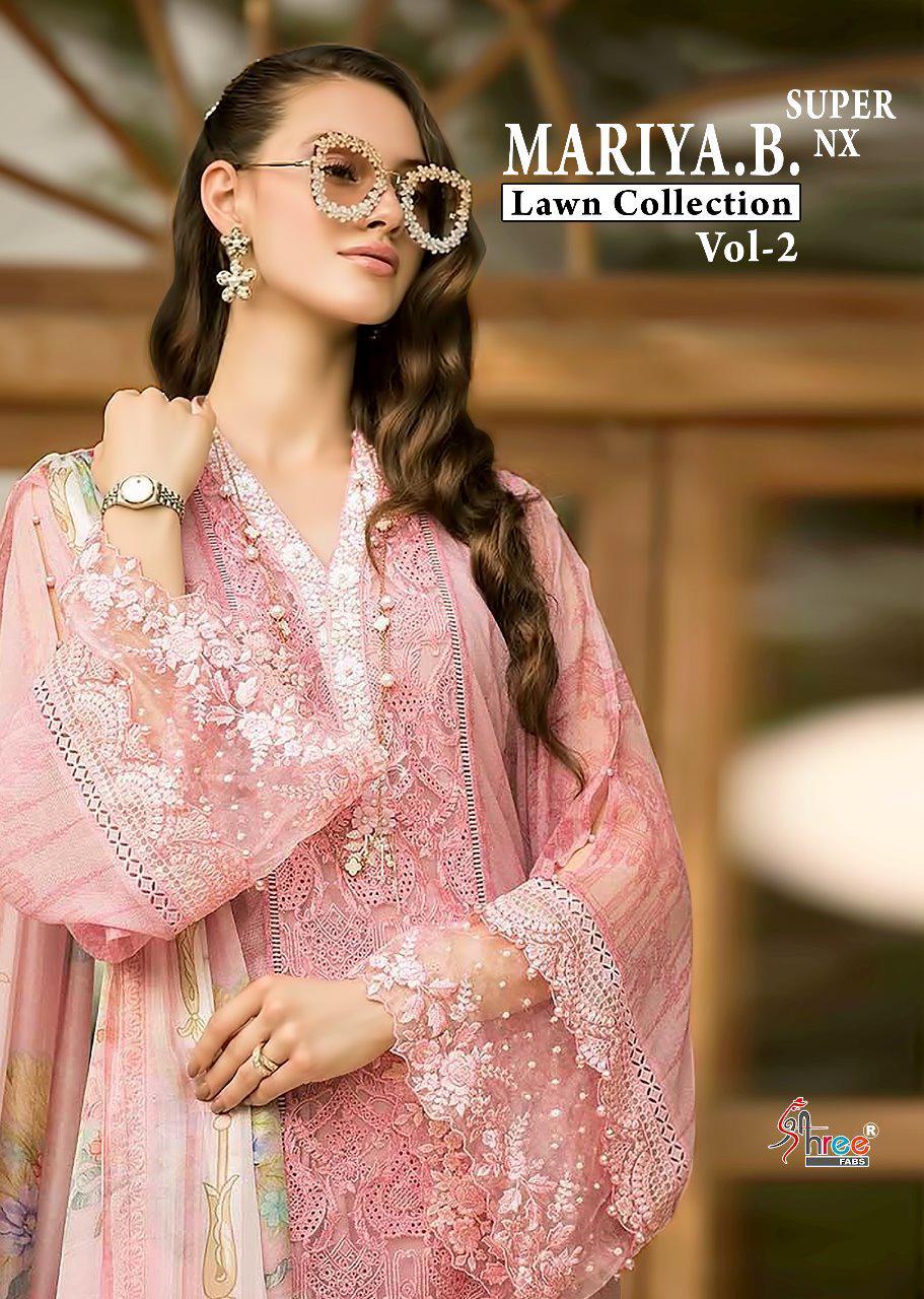 Shree Fab Mariya B Lawn Collection Vol 2 Super Nx Designer Suits Wholesale