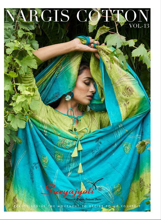 Suryajyoti Nargis Cotton Vol 13 Designer Premium Cotton Daily Wear Suits In Best Wholesale Rate
