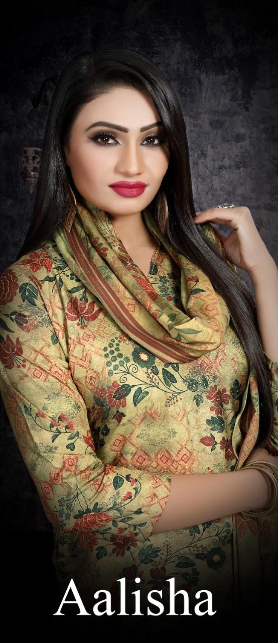 Bipson Aalisha Designer Tussar Silk Digital Printed Suits In Lowest Rate Wholesale