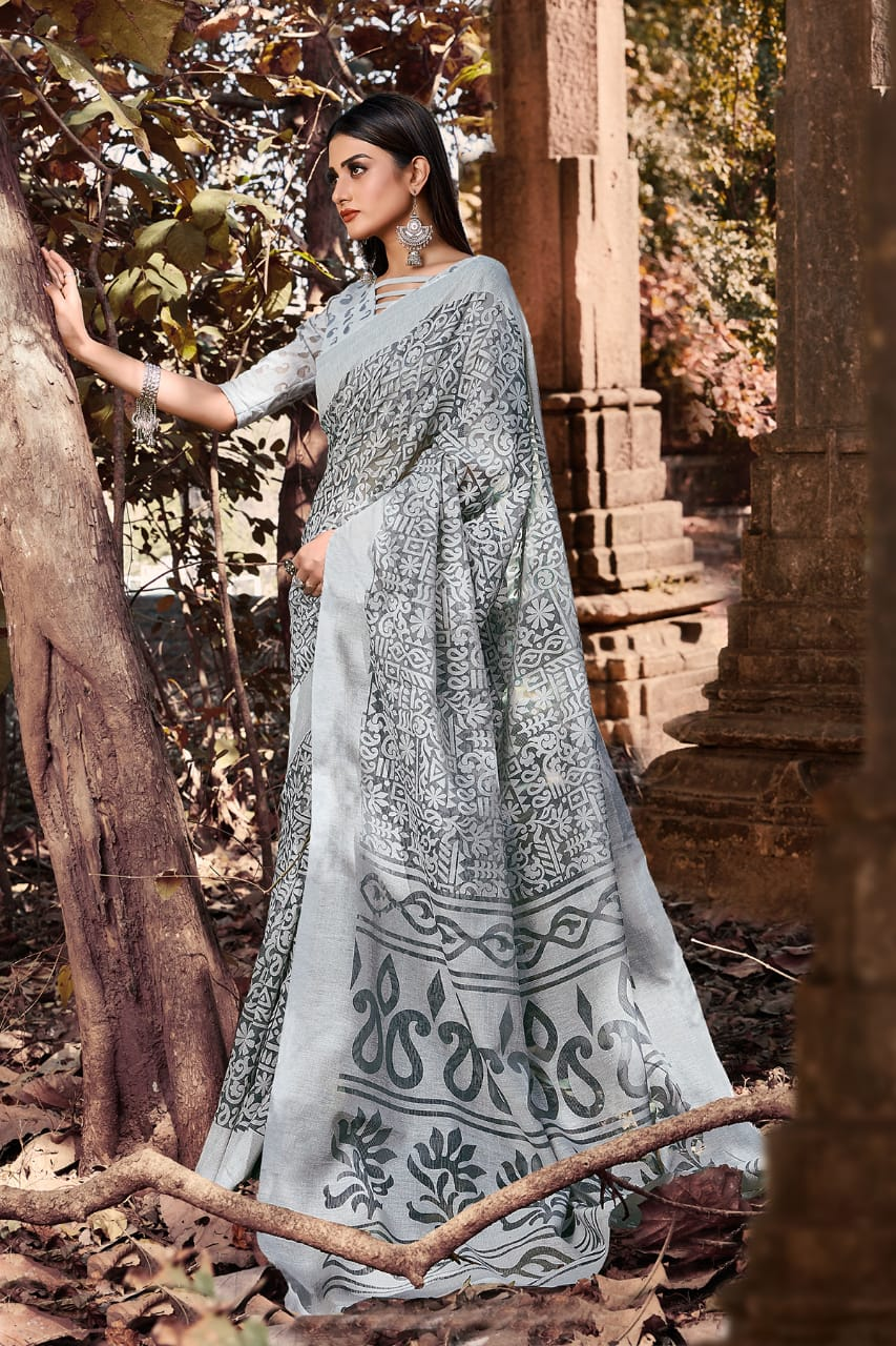 Avni Kimora Brasso Designer Printed Daily Wear Sarees Wholesale