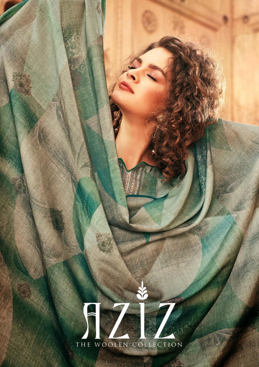 Sargam Prints Aziz Designer Pure Pashmina Digital Print With Self Embroidery & Swarovski Work Suits Best Wholesale Rate