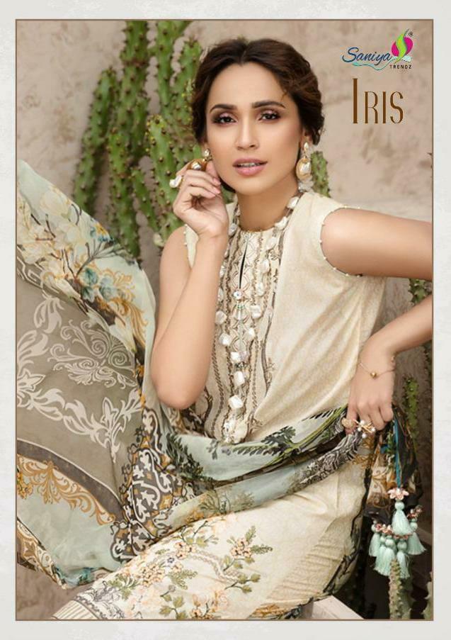 Saniya Trendz Iris 2 Pure Cambric Cotton Dogital Printed Suits Lowest Price Wholesale