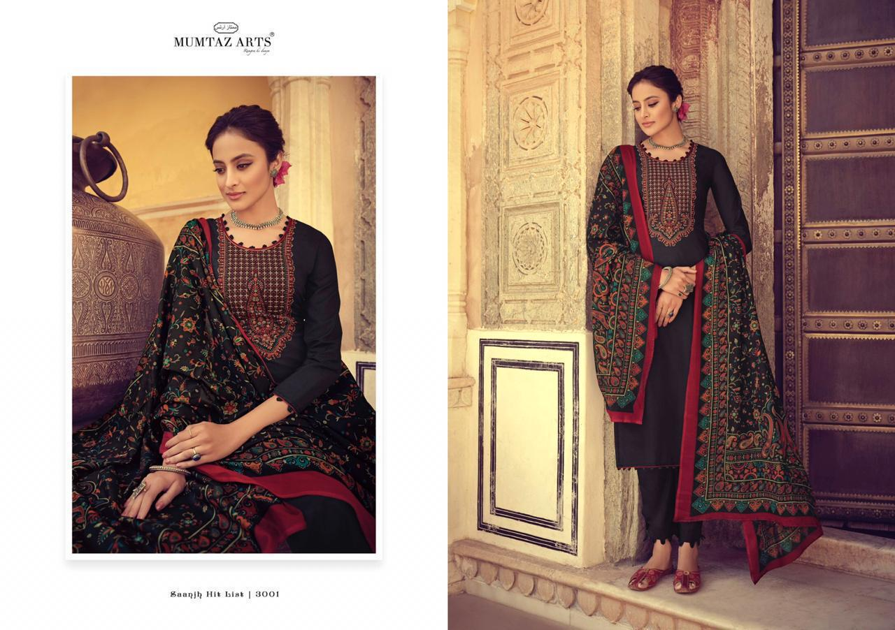 Mumtaz Arts Saanjh Nx Designer Embroidery Work Suits In Wholesale Rate