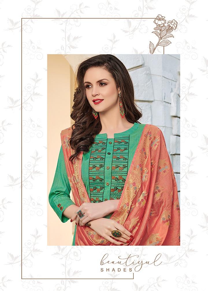 Dehliz Trendz Paalav Vol 2 Designer Hawai Silk With Embroidery Work With Banarasi Dupatta Suits In Best Wholesale Rate