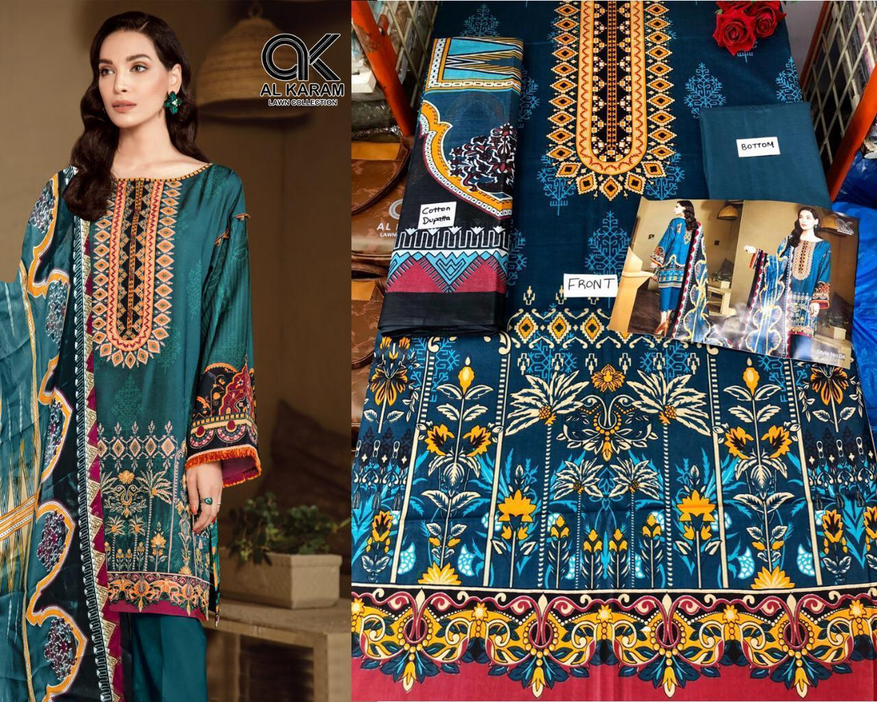 Al Akram Vol 1 Kesariya Cotton Magic Print With Mal Mal Dupatta Suits In Lowest Price Wholesale