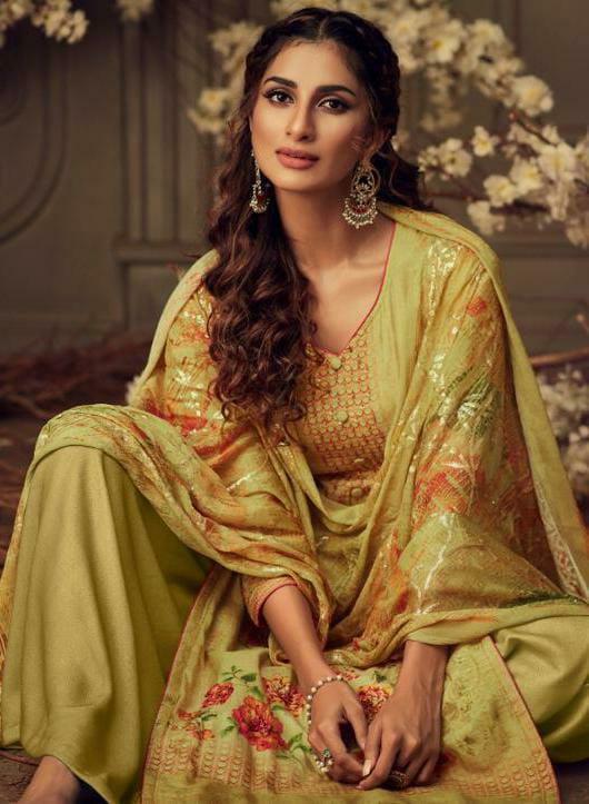 Glossy Sajda Designer Digital Print With Handwork Suits In Best Wholesale Rate