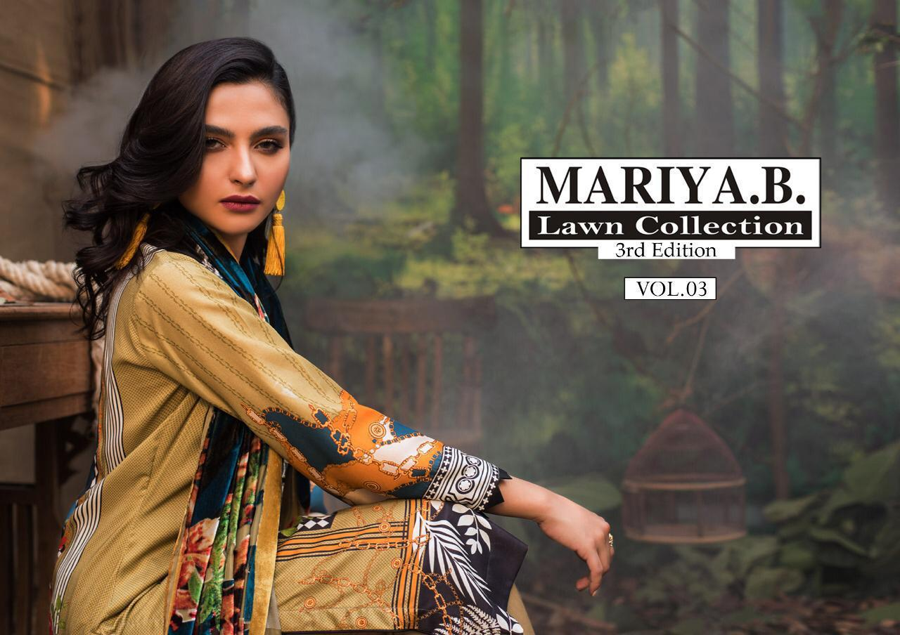 Mariya B Vol 3 Designer Original Lawn Low Range Daily Wear Suits Lowest Price Wholesale