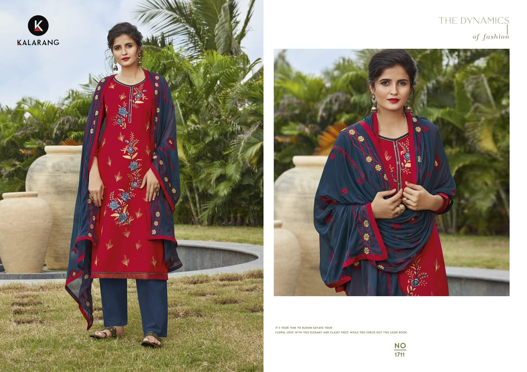 Kalarang Merigold Vol 3 Designer Cotton With Embroidery Work Suits In Single