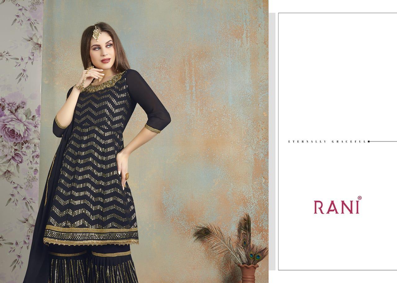 Rani Trendz Chinon Stylish Free Size Top With Bottom And Dupatta Suits Wholesale