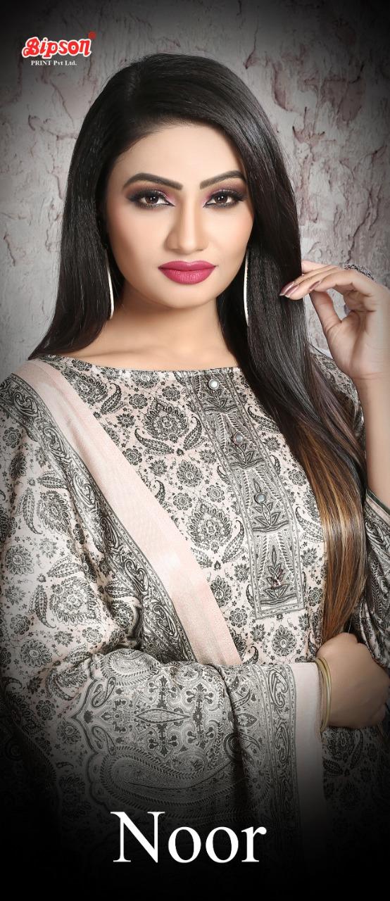 Bipson Noor Pashmina Digital Printed Tussar Silk Suits Wholesale