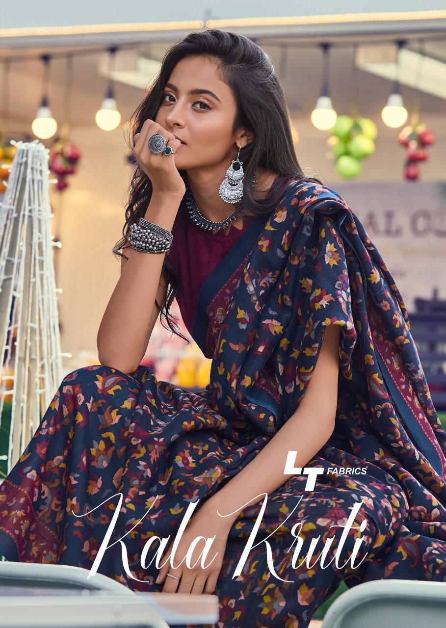 Lt Kalakruti Designer Kashmiri Digital Printed Sarees Wholesale