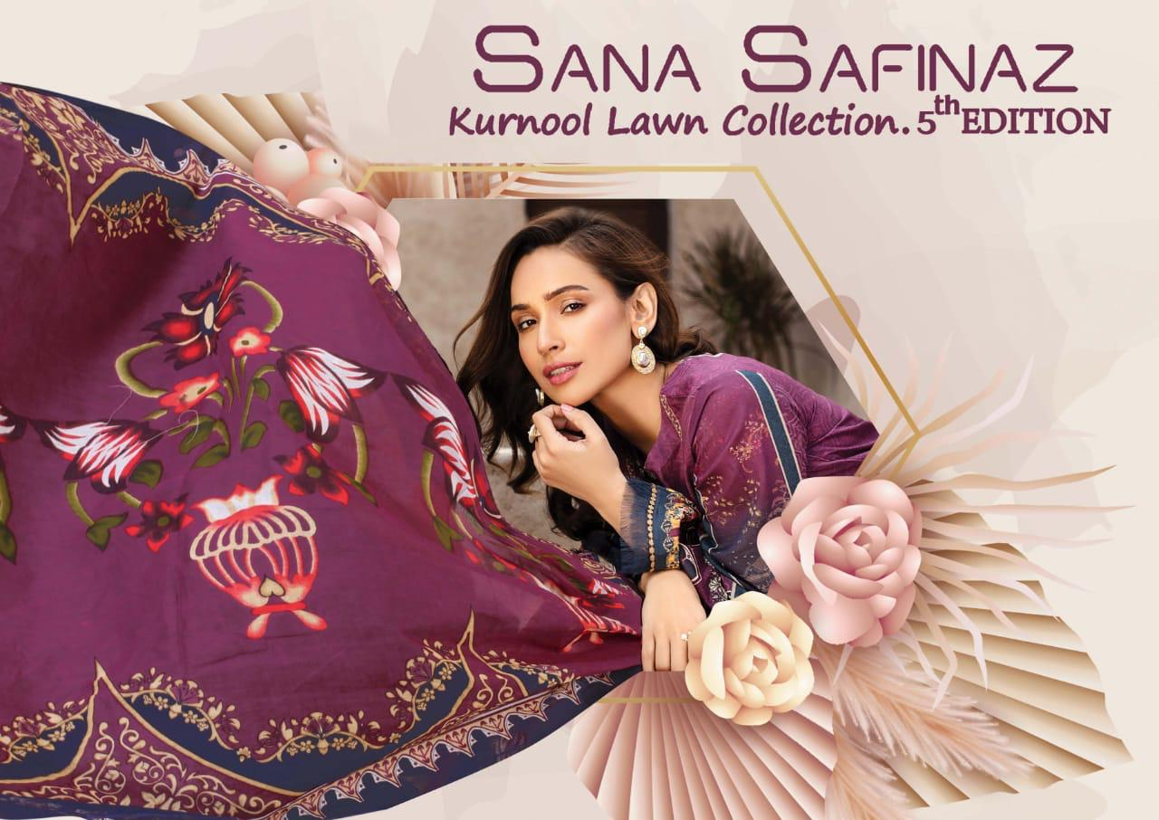Sana Safinaz Kurnool Lawn Collection 05th Edition Printed Lawn Suits Wholesale