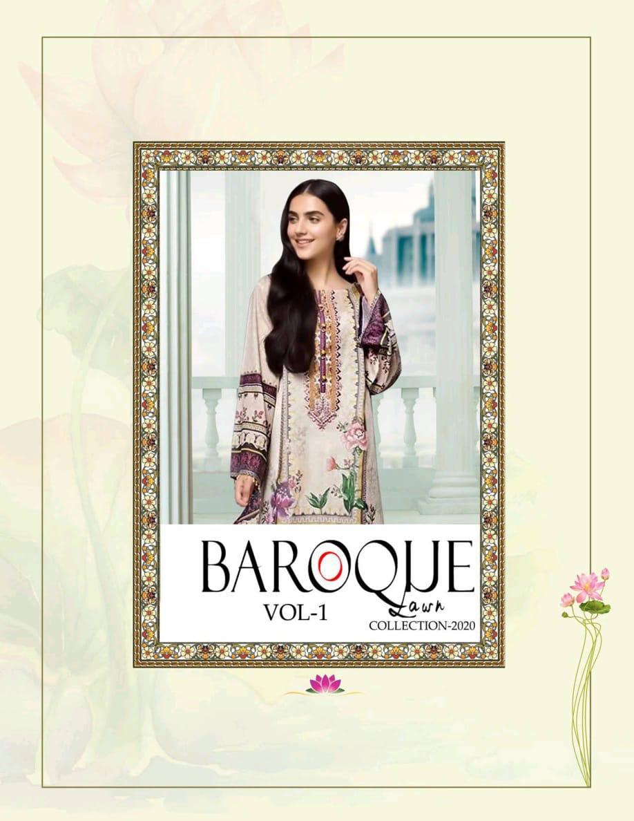 Baroque Lawn Collection 2020 Designer Cambric Lawn Suits Wholesale