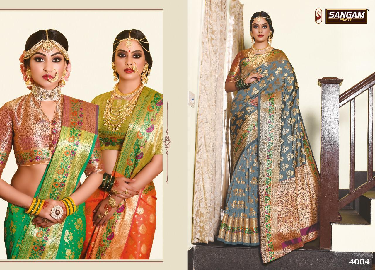 Sangam Rang Tarang Designer Silk Sarees Wholesale