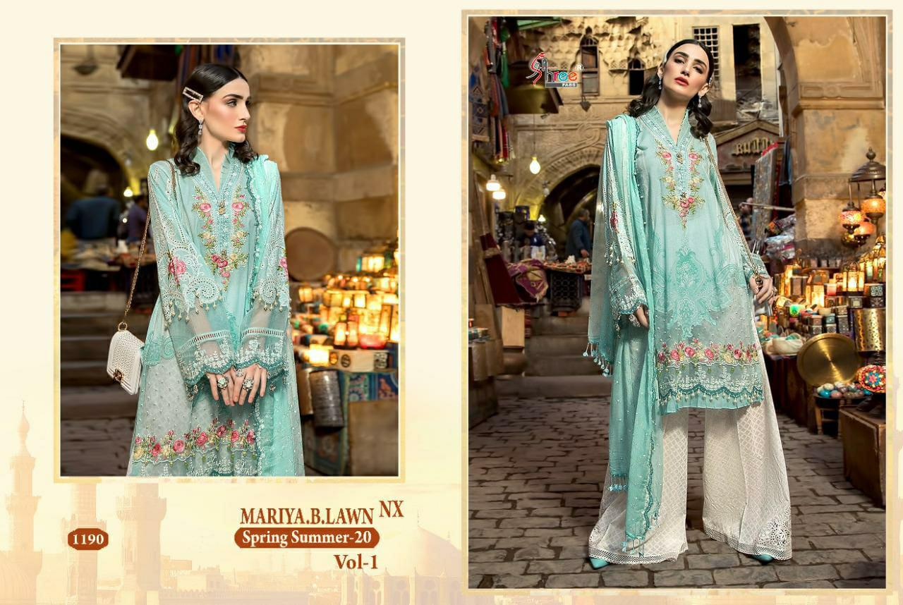 Shree Fab Hit Design 1190 Cotton Lawn Embroidery Work Suit Single