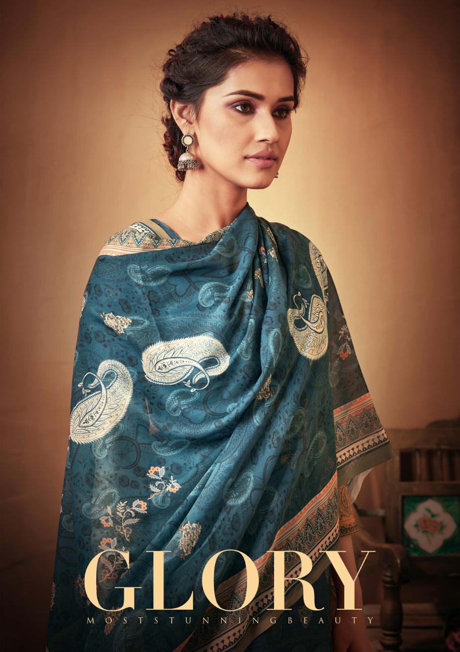 Sargam Prints Glory Pashmina Print With Embroidery