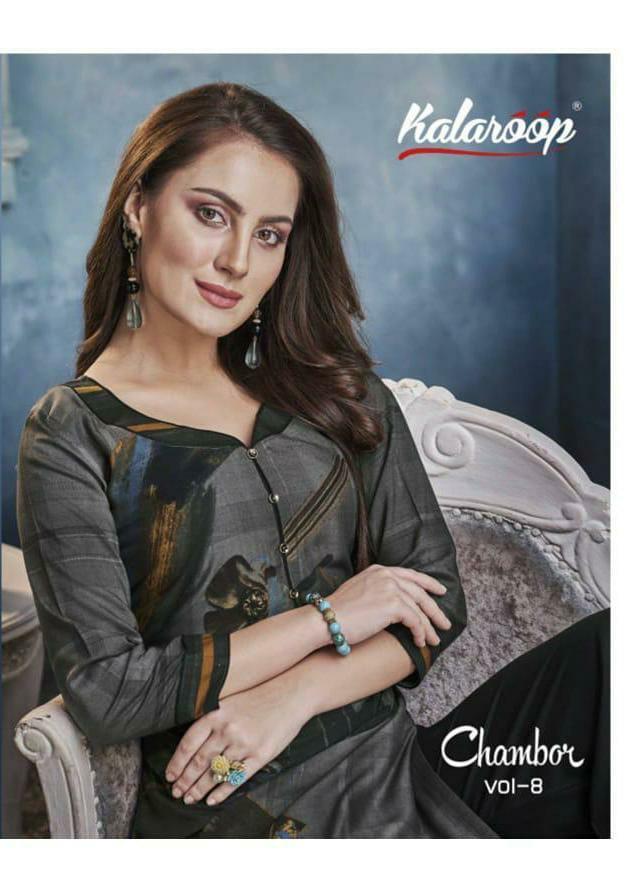 Kalaroop Chambor Vol 8 Designer Heavy Rayon With Printed Kurtis With Plazzo Wholesale