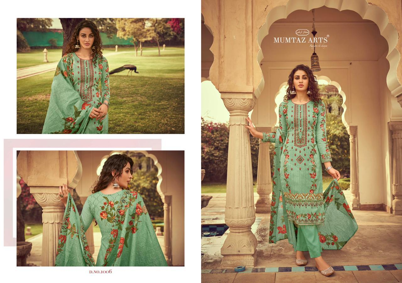 Mumtaz Arts Maira Nx Designer Pure Lawn Cotton Printed With Embroidery Work Suits In Single