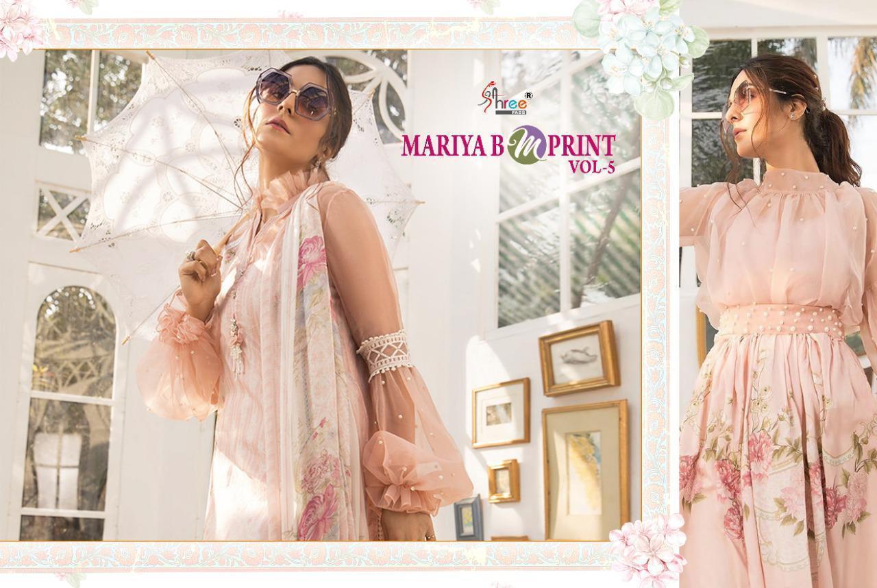Shree Fab Mariya B M Prints Vol 5 Designer Pakistani Replica Jam Cotton With Exclusive Embroidery Work Suits Wholesale