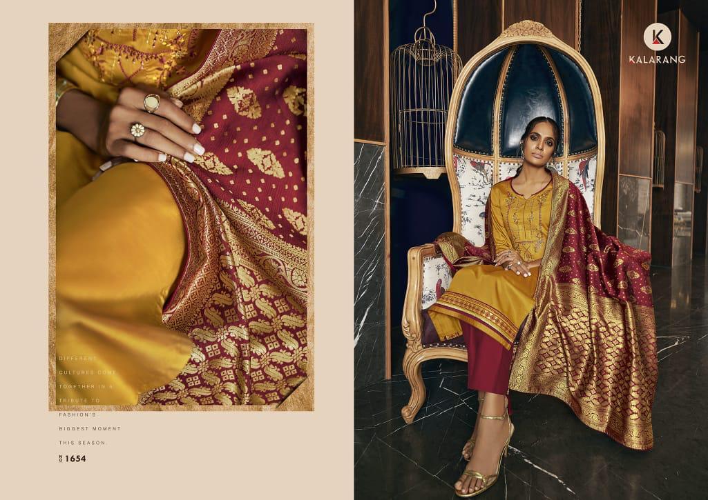 Kalarang Malvika Vol 3 Designer Jam Silk Cotton With Embroidery Work Suits Wholesale
