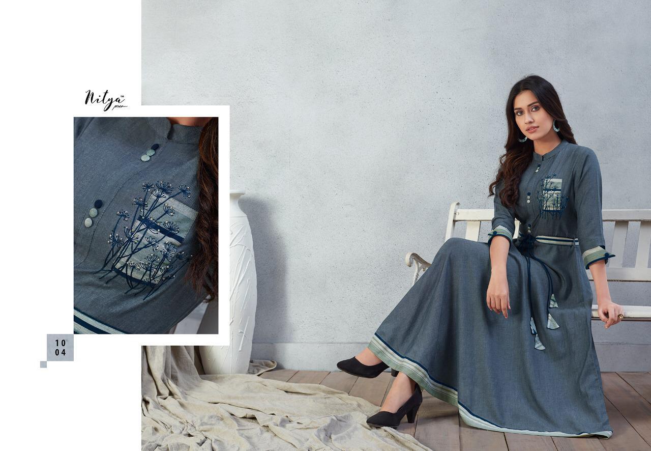 Lt Nitya Prisha Designer Fancy Rayon Kurti With Mask Wholesale