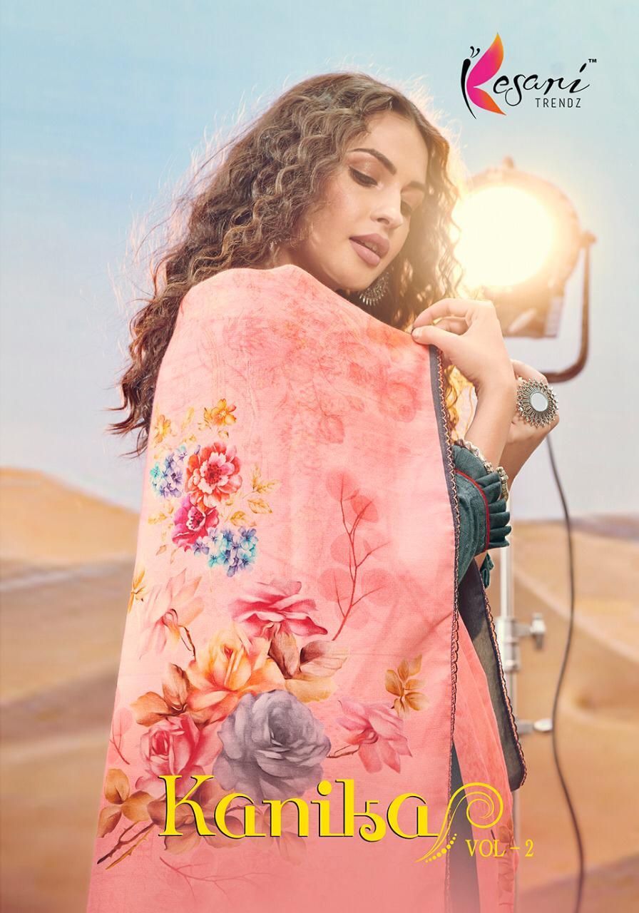 Kesari Trendz Kanika Vol 2 Pashmina Self Embroidery Work Winter Wear Suits Wholesale