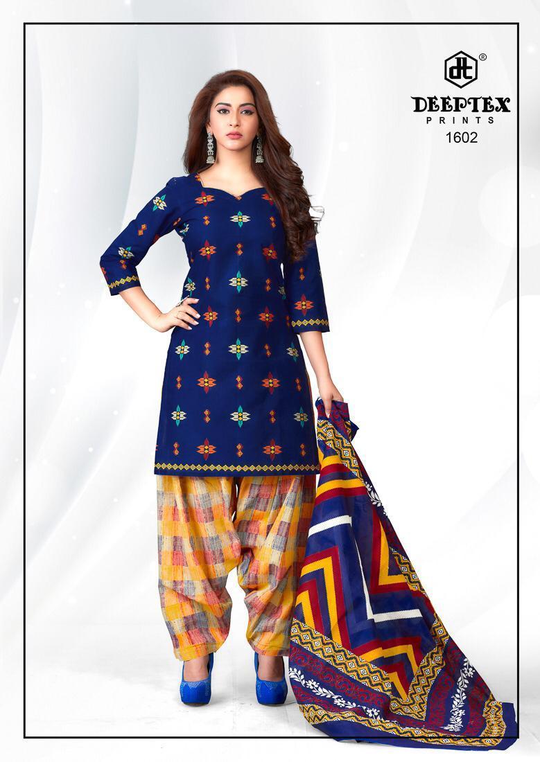 Deeptex Pichkari Vol 16 Designer Cotton Printed Daily Wear Suits Wholesale