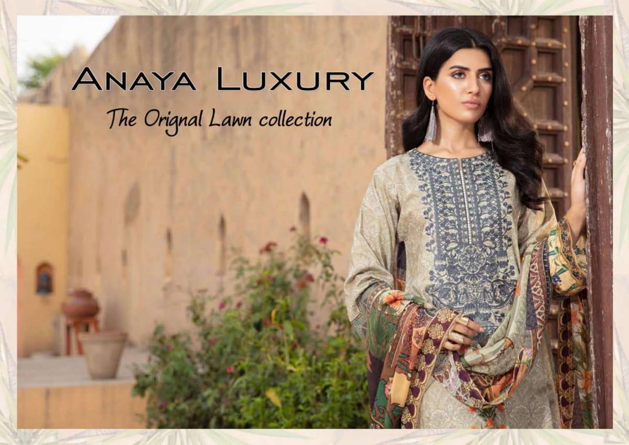 Anaya Luxury Lawn Printed Cotton Low Range Suits Wholesale