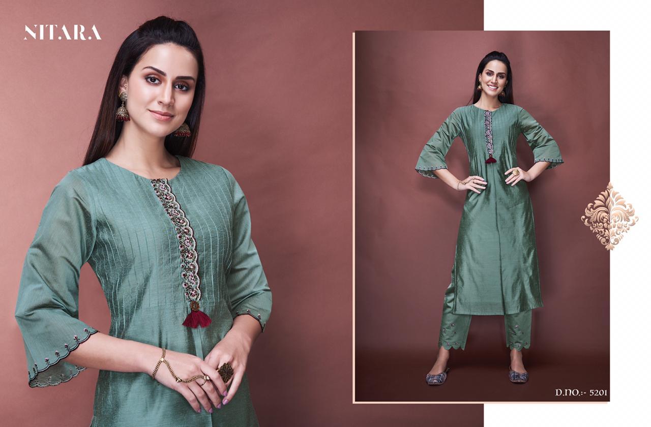 Nitara Angelica Designer Pure Chanderi With Pure Cotton Inner Stitch 3 Pieces Combo Wholesale
