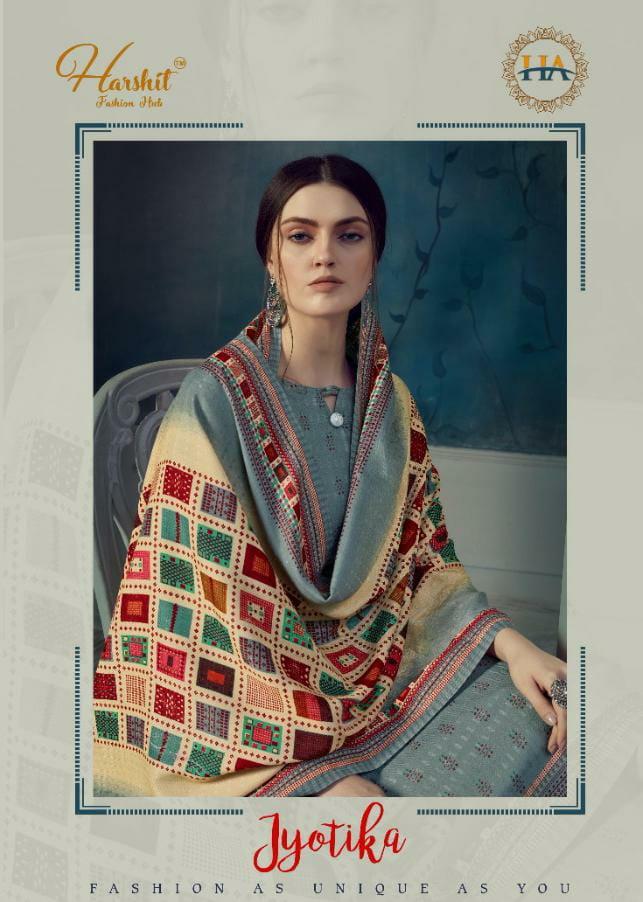 Harshit Fashion Hub Alok Suit Jyotika Designer Pure Wool Pashmina Digital Printed Suits Wholesale