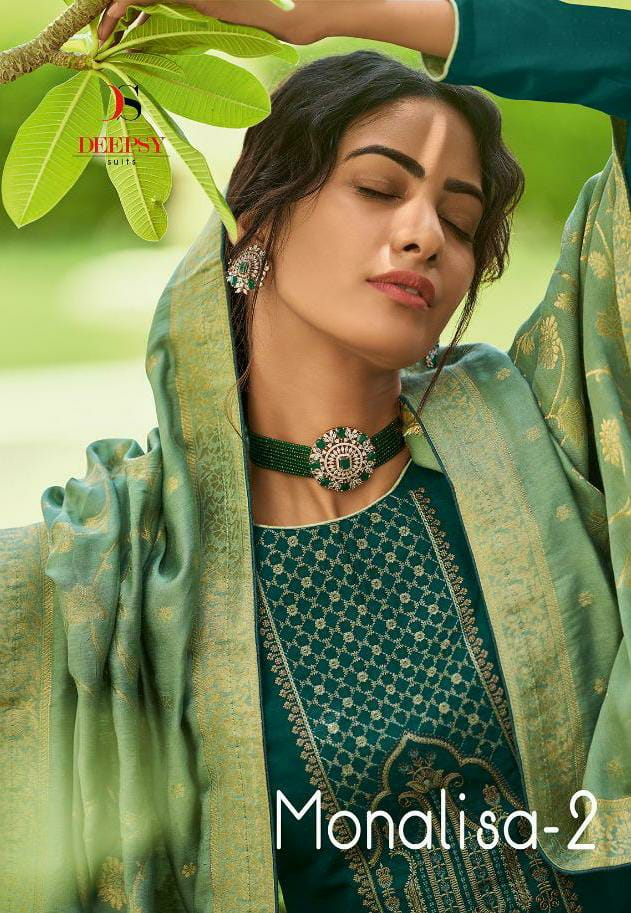 Deepsy Monalisa 2 Designer Nahya Silk With Self Embroidery Work Suits Wholesale