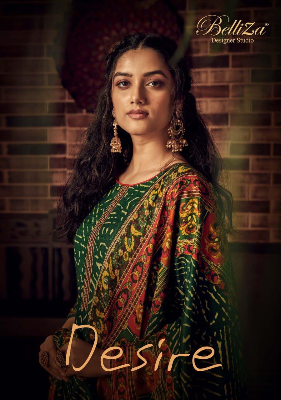 Belliza Desire Designer Pashmina Digital Printed With Kahshmiri Embroidery Work Winter Wear Suits Wholesale