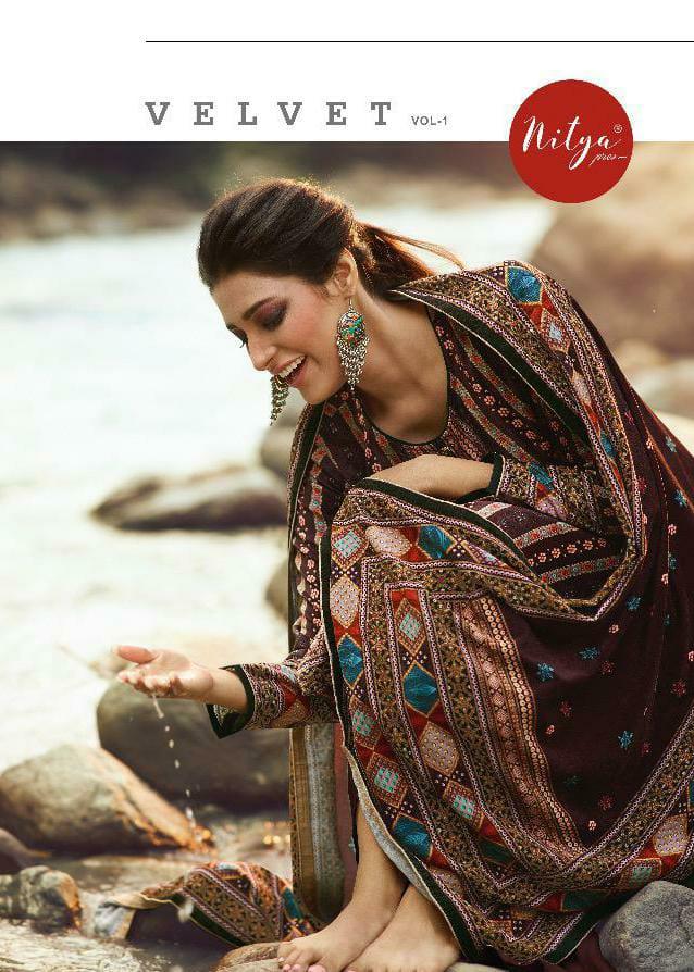 Lt Nitya Velvet Vol 1 Velvet Digital Printed With Pashmina Bottom  And Velevet Dupatta Suits Wholesale