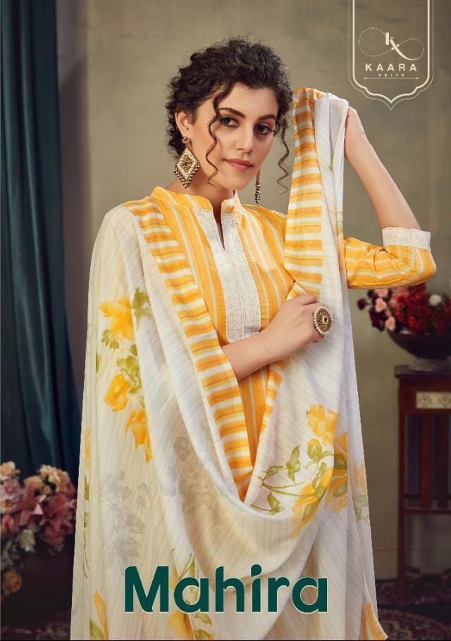 Kaara Suits Mahira Pashmina Designer Woven Pashmina Digital Printed With Work Suits Wholesale