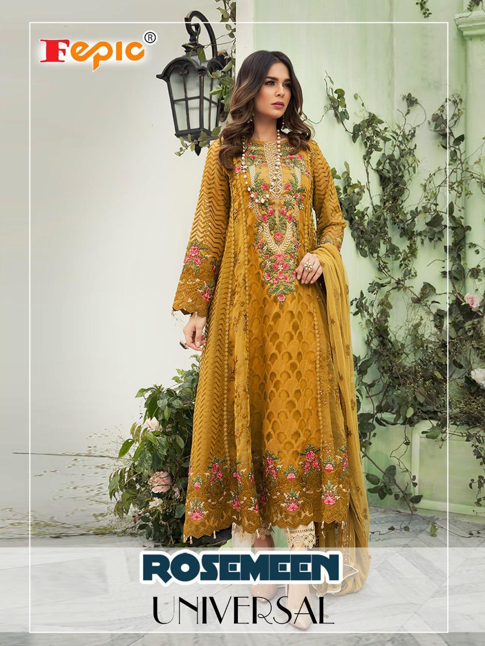 Fepic Rosemeen Universal Fox Georgette Occasional Wear Suits Wholesale