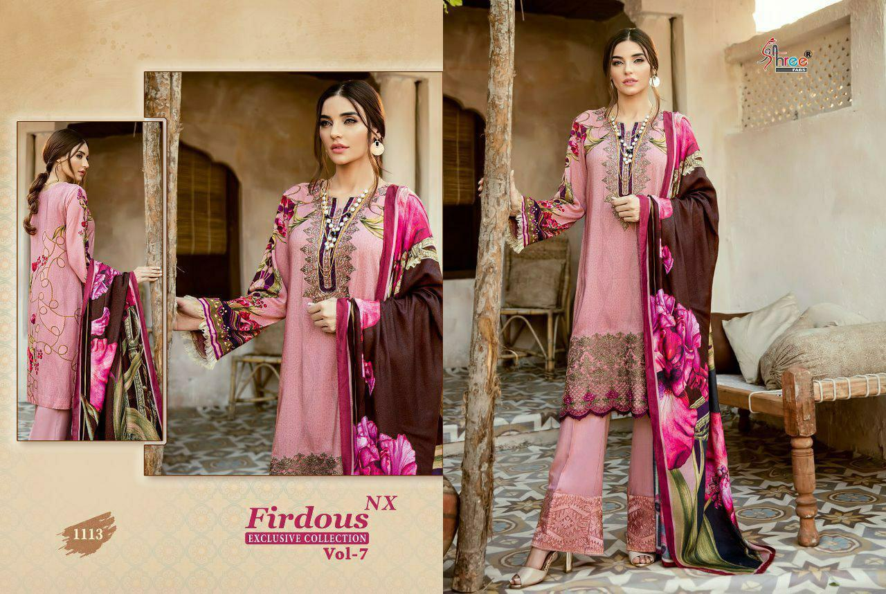 Shree Fab Superhit Design 1113 Designer Jam Cotton Print With Exclusive Embroidery Work Partywear Suits In Single