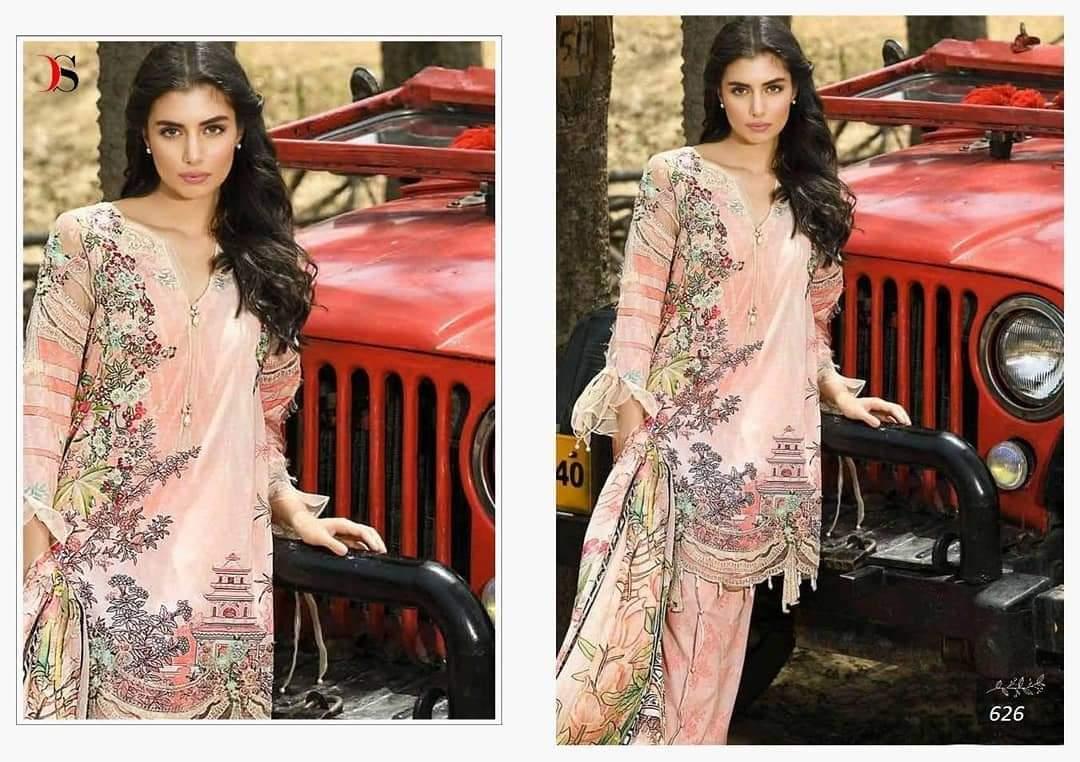 Deepsy Suits Firdous Superhit 2 Design 626 Designer Cotton Print With Embroidery Work Suits Wholesale