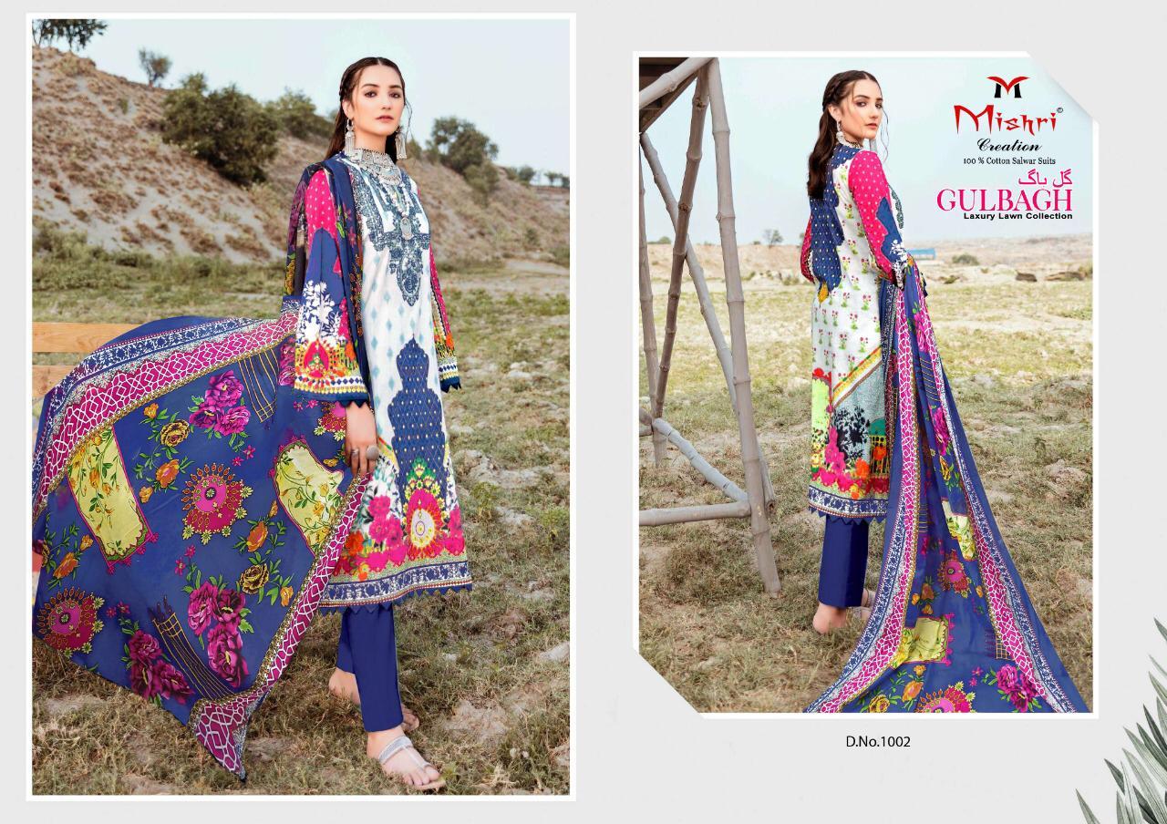Mishri Creation Gulbagh Designer Luxury Lawn Collection In Single