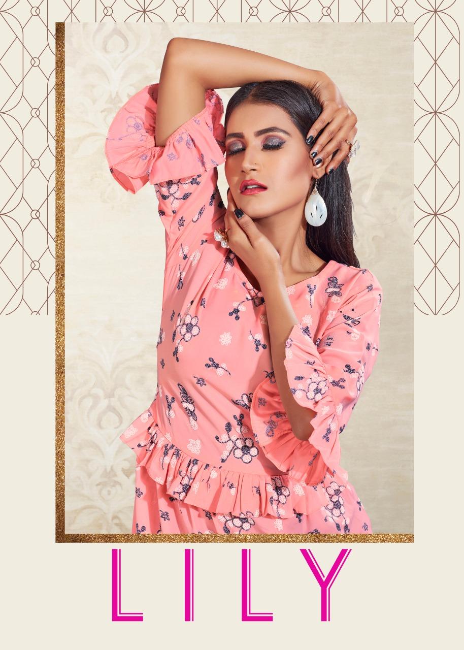 Joganiya Lily Designer Georgette Tunics Tops Wholesale