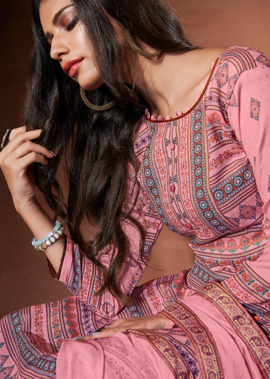 Bipson Roma Designer Pashmina Digital Printed Winter Wear Suits Wholesale