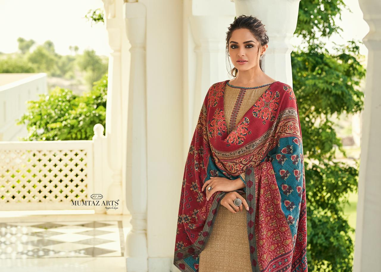 Mumtaz Arts Jamawar Designer Digital Printed Shawl Box Pallu Kashmiri Suits Wholesale