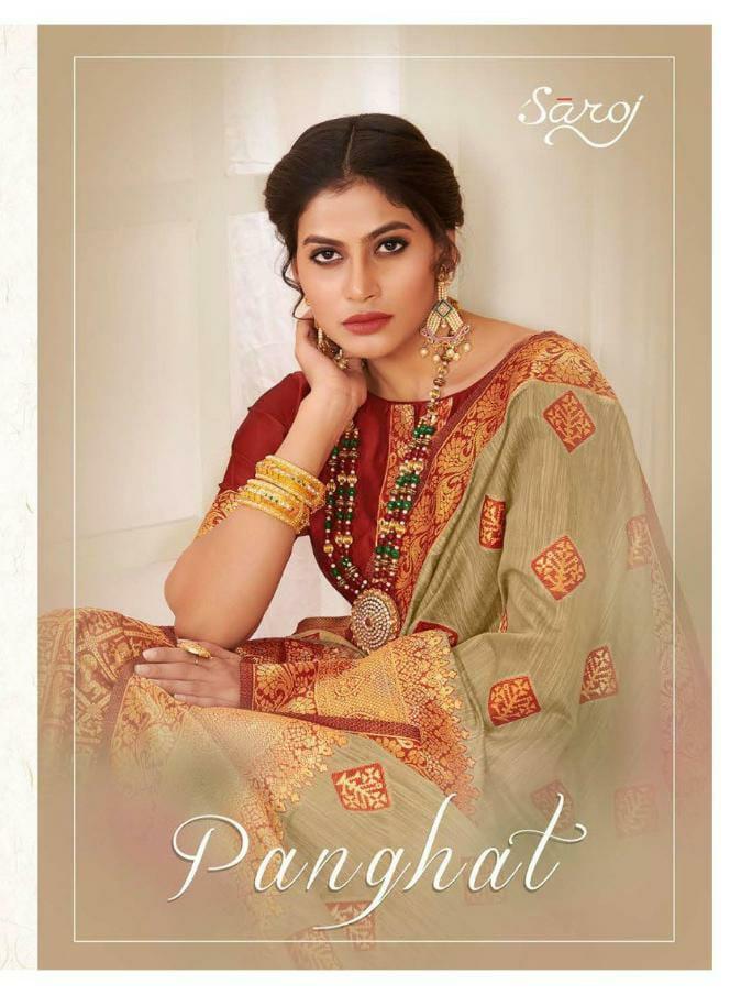 Saroj Saree Panghat Designer Cotton Silk Rich Pallu Sarees Wholesale