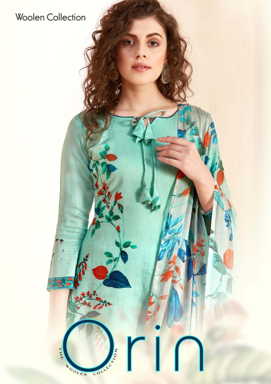 Sargam Prints Orin Designer Pashmina Digital Printed Suits Wholesale