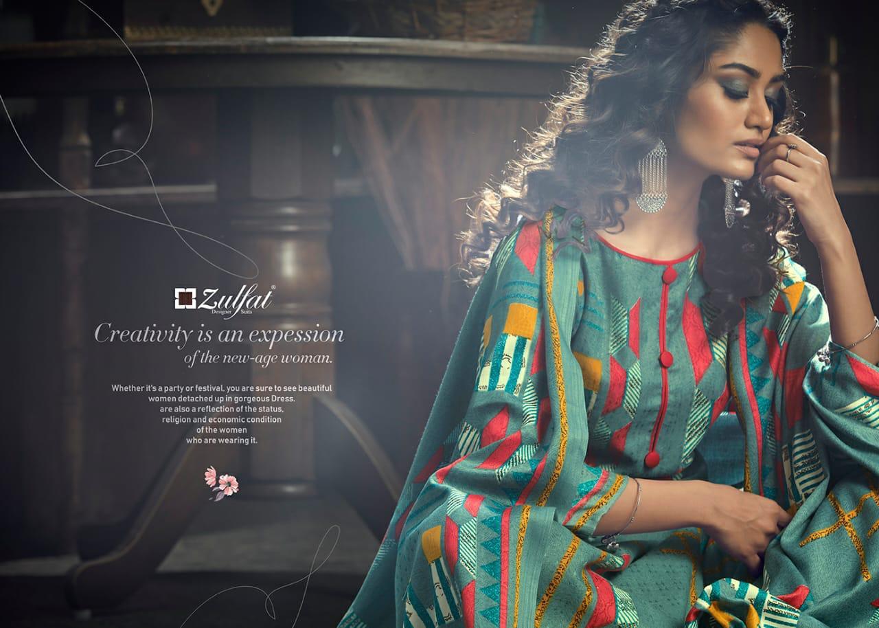 Zulfat Designer Winter Magic Designer Pashmina Digital Style Printed Winter Wear Suits Wholesale