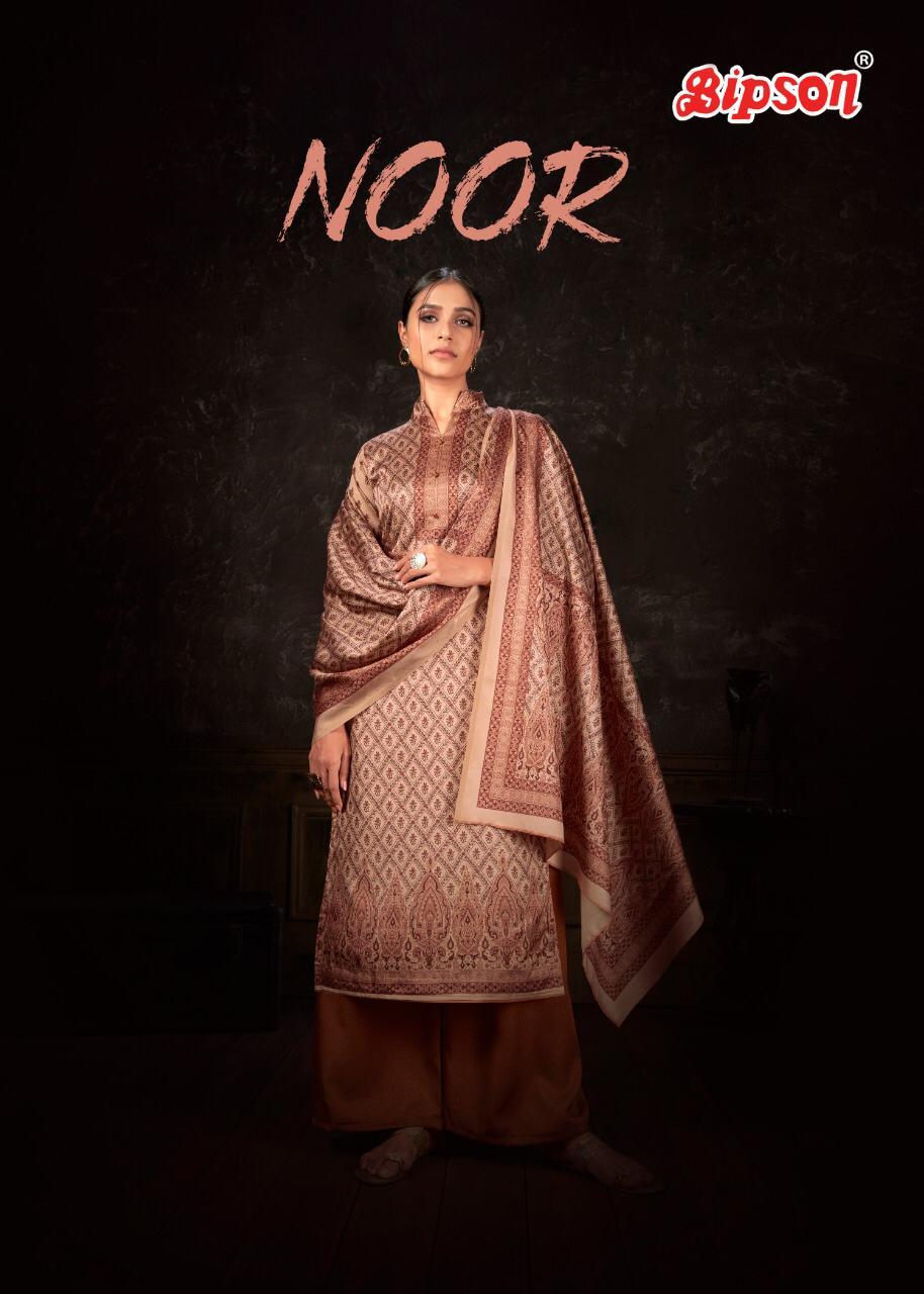 Bipson Noor 1049 -1052 Series Designer Tusser Silk With Digital Printed Suits Wholesale