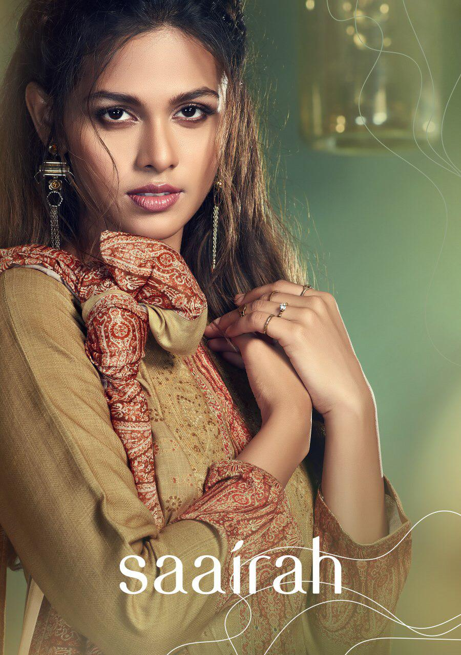 T&m Saairah Designer Pashmina Digital Printed With Miror Work Suits Wholesale