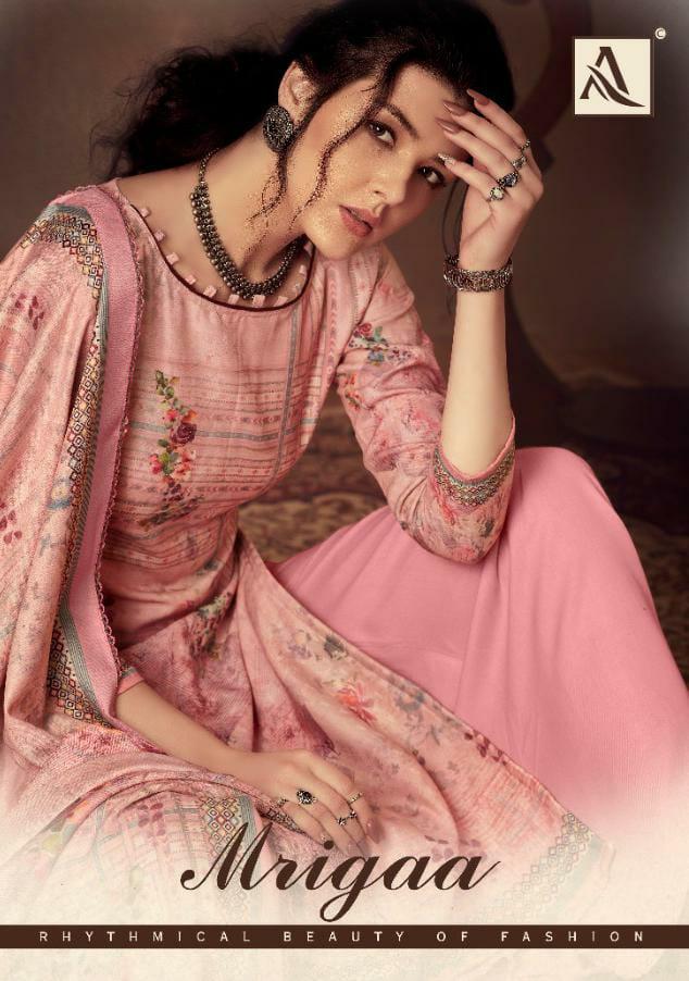 Alok Mrigaa Designer Pashmina With Swarovski And Diamond Work Suits Wholesale